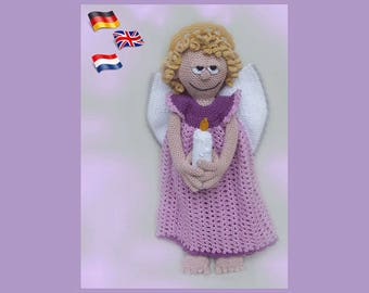Guardian Angel Hope, Amigurumi doll crochet pattern, crocheted dolls pattern, amigurumi PDF pattern, Instant download