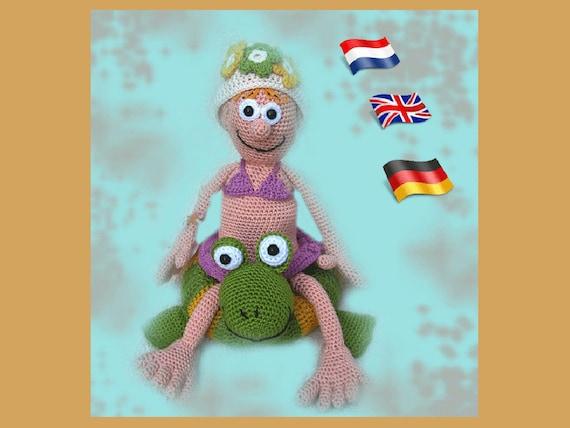 Amigurumi Puppe Häkelanleitung Gehäkelte Puppen Anleitung Etsy