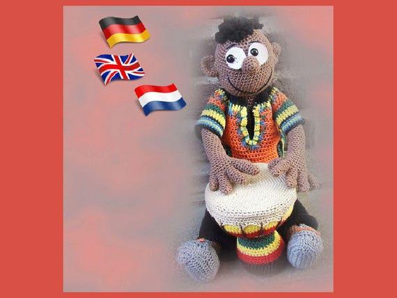 South African Badru Amigurumi Doll Crochet Pattern Etsy