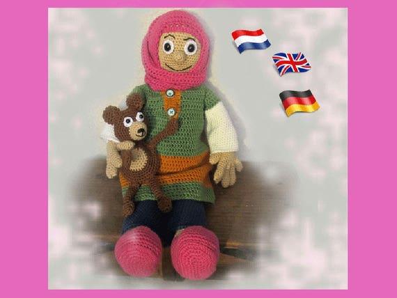 Muslim Puppe Aïssa Amigurumi Puppe Häkelanleitung Gehäkelte Etsy
