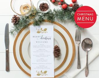 christmas menu etsy