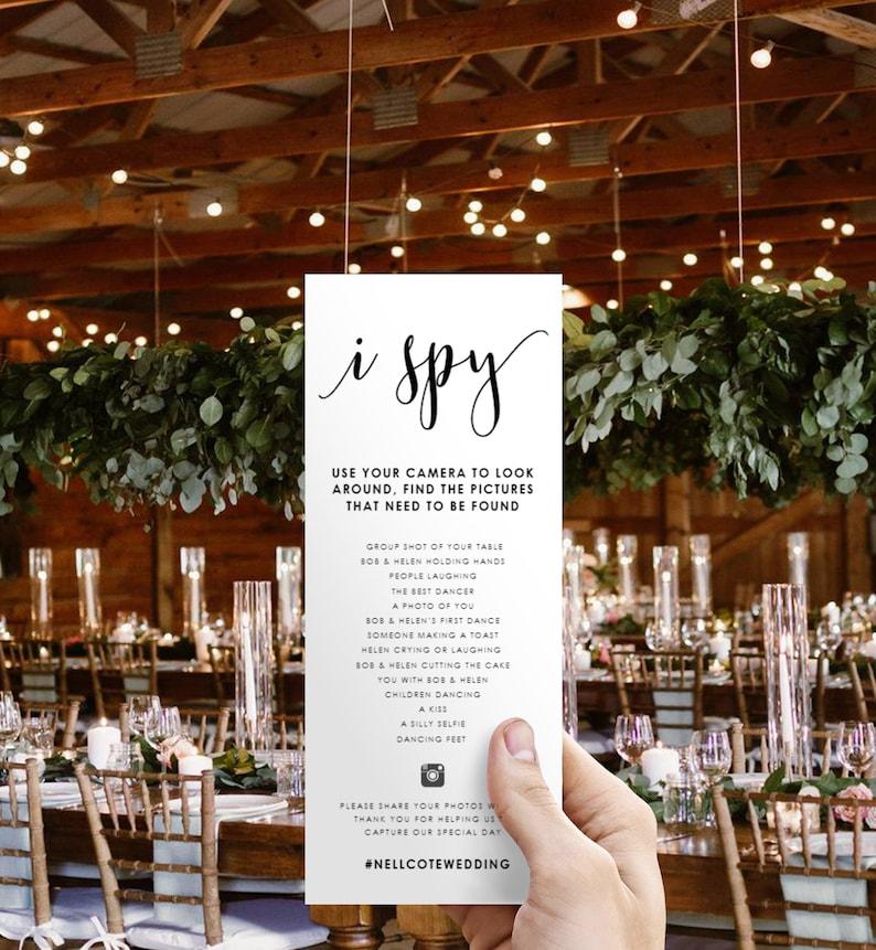 I Spy-I Spy Wedding Game-Hashtag Game-I Spy image 0