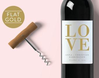 LOVE Wine Label-Wedding Wine Label-Custom Label-Wedding Label-Wine Label-Editable Wine Label-PDF-Instant Download-Wine Labels-#SN024_WL2G