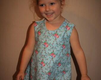 CHARLOTTE Handmade Girls Flower Dress. Ages 4 - 5 years
