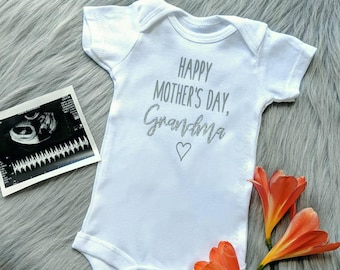 4fa70d4af Mother's Day Pregnancy Announcement Onesie® | New Grandma | Baby  Announcement | Pregnancy Reveal | Baby on the Way | New Baby | Surprise