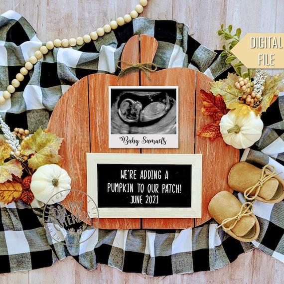 Adding a Pumpkin to Our Patch Digital Pregnancy Announcement