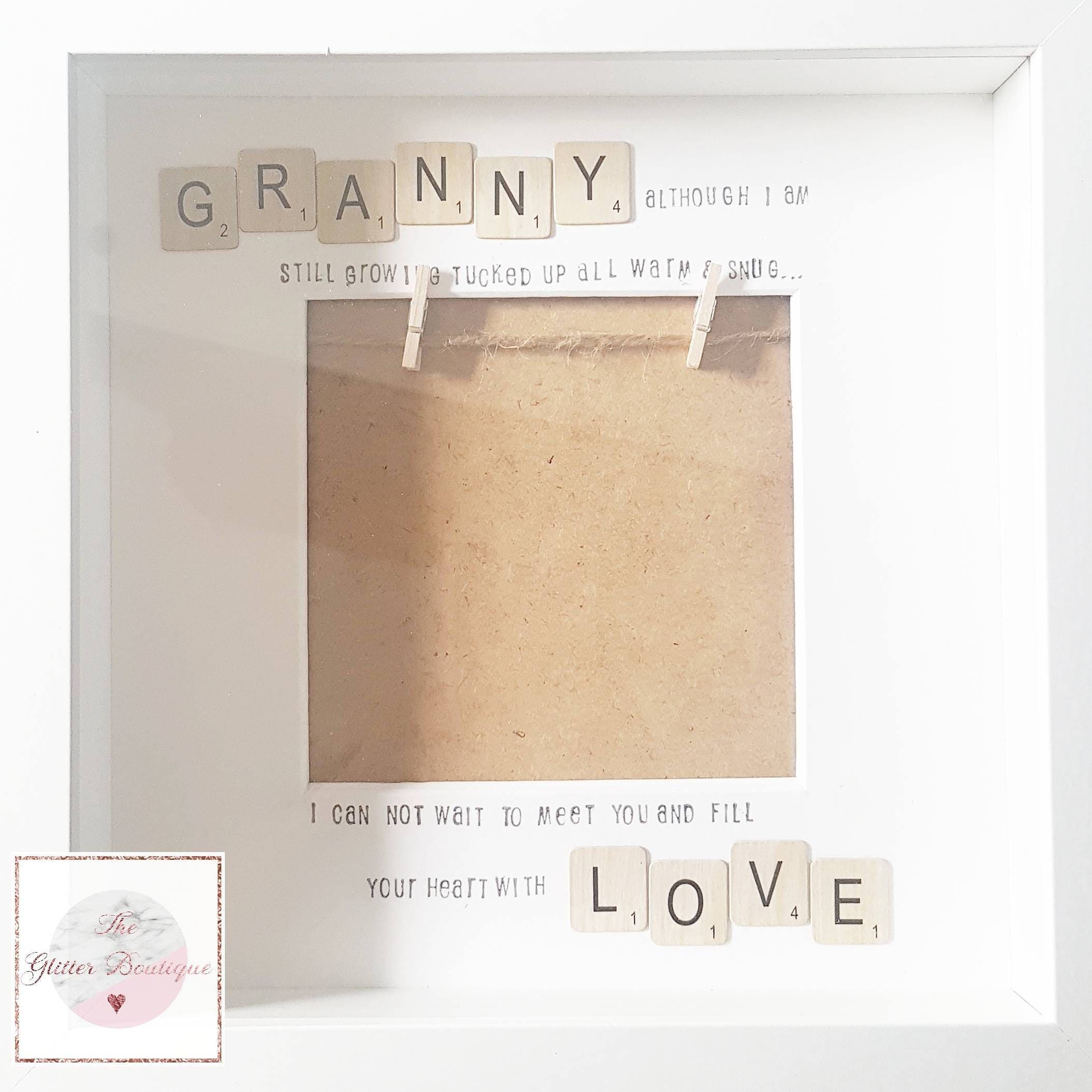Scrabble Style Hanging Baby Scan Frame For Daddy/Mummy/Nanna/Nanny ...