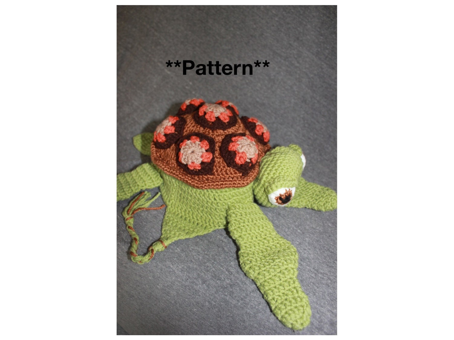 Crush Squirt Sea Turtle Crochet Hat With Earflaps Pattern Etsy