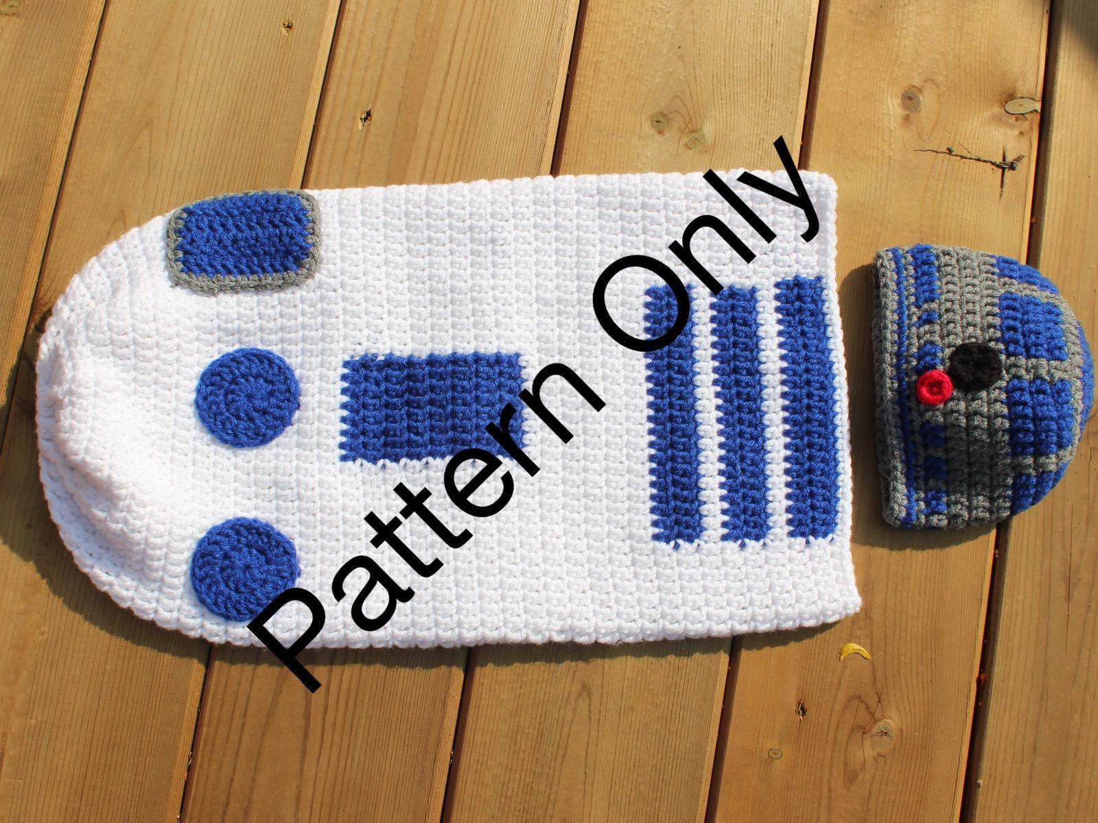 Crochet Pattern R2d2 Newborn Cocoon Hat Costume Newborn Etsy