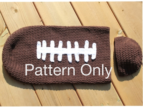 Football Cocoon With Hat Crochet Pattern Etsy