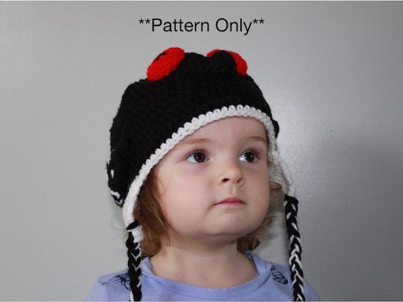 Loon Crocheted Hat With Earflaps Crochet Pattern Loon Hat Etsy