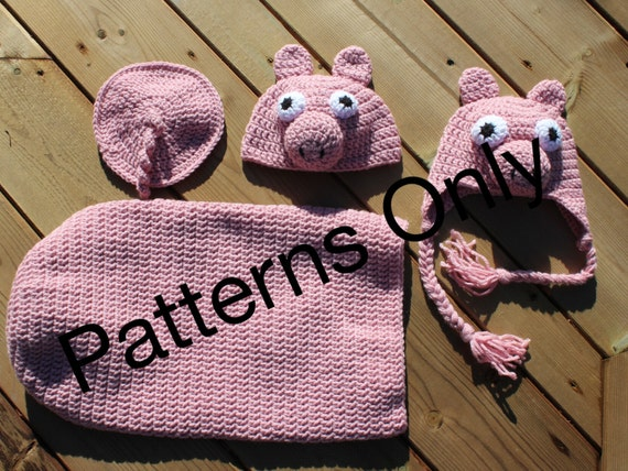 Pig Cocoon Anf Hat Crochet Pattern For Baby And Newborn 0 3 Etsy