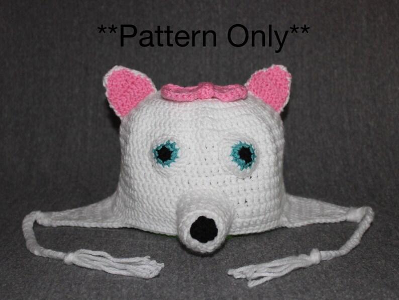 American Eskimo Dog Puppy Hat Pattern Dog Hat Crochet Dog  c34f4cab5f9