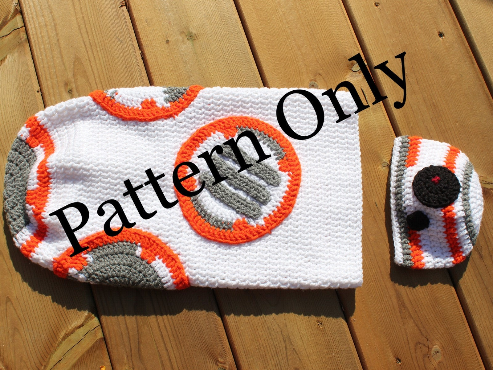 Crochet Pattern Bb 8 Cocoon With Hat Star Wars Baby Costume Etsy