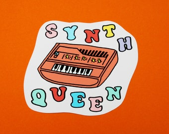 SYNTH QUEEN Synthesizer Vinyl Sticker
