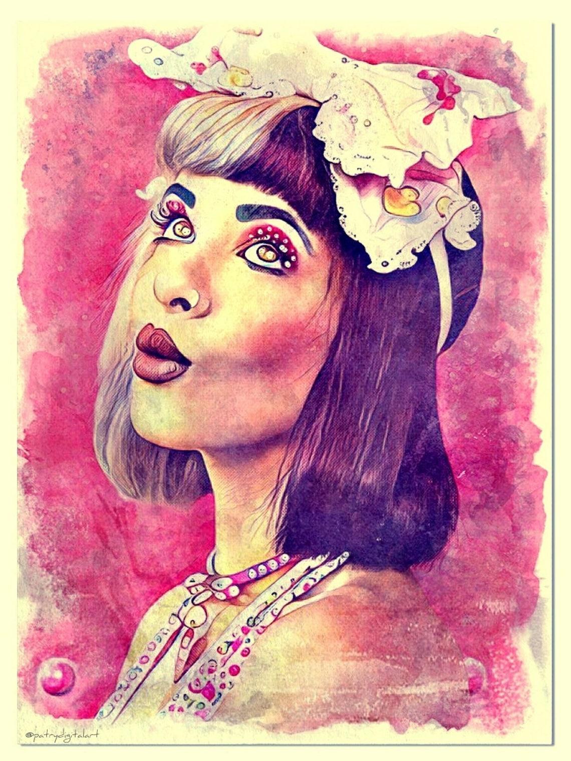 Melanie Martinez  Cry Baby Dipinto ad acquerello Stampa image 0