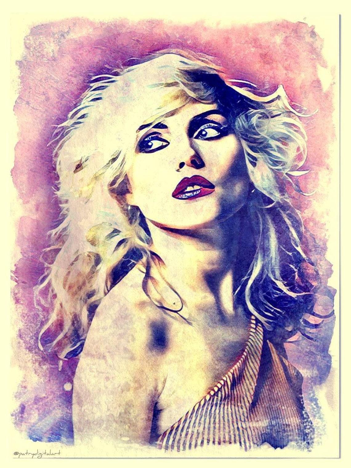Blondie Dipinto ad acquerello Stampa Artistica decorazioni da image 0