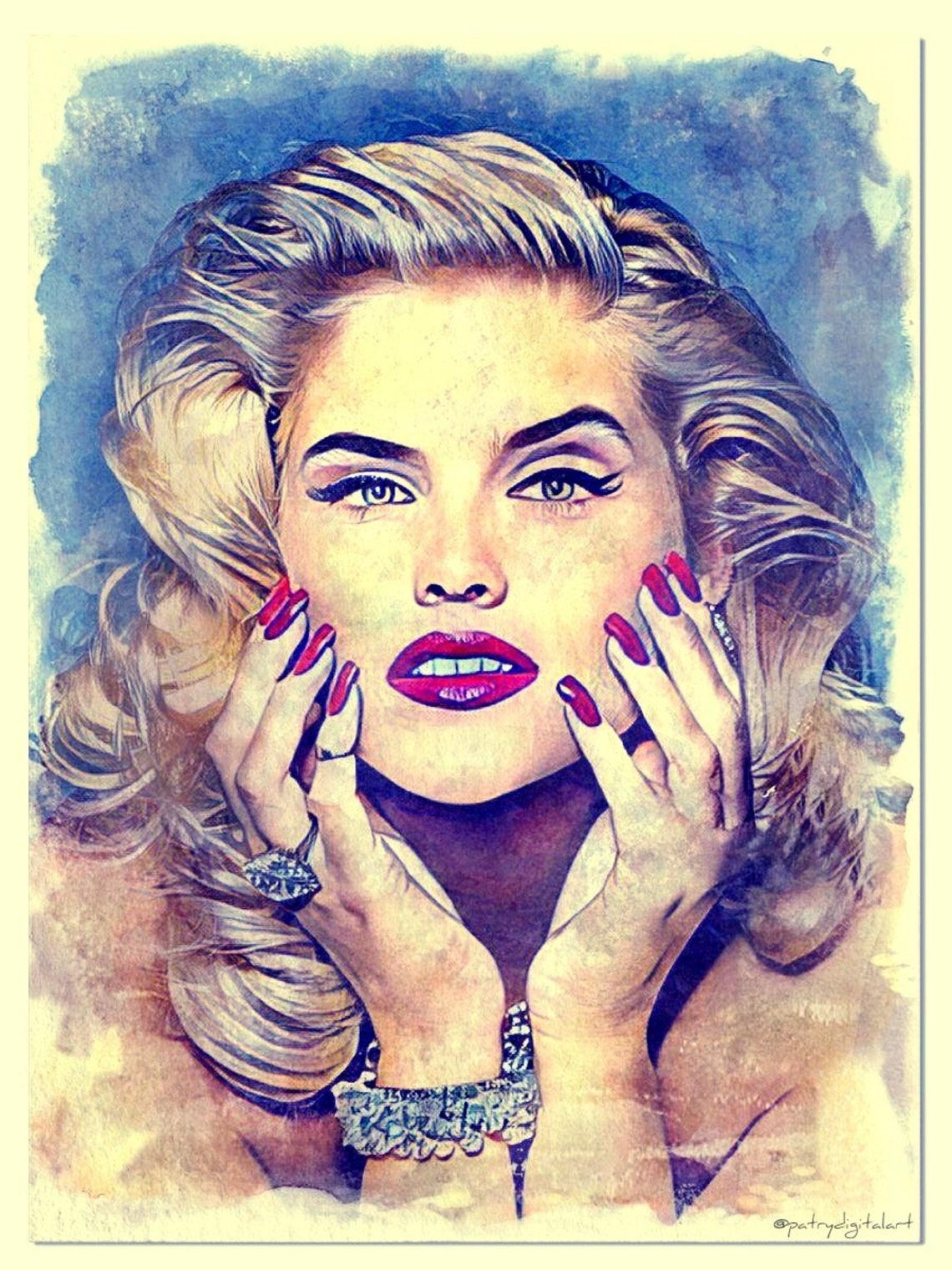 Anna Nicole Smith Dipinto ad acquerello Stampa Artistica image 0