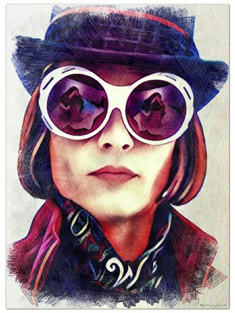 Willy Wonka Depp Disegno A StampaEtsy Matita Johnny Colorata rWodCxBe