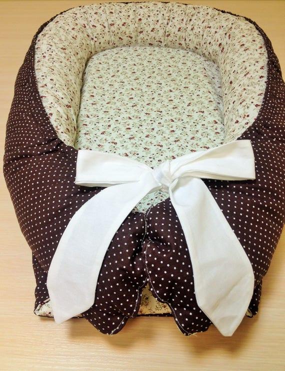 Baby Nest Babybett Blume Braun Baby-Geschenk Baumwolle | Etsy