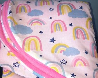Car seat cosy - pastel rainbows