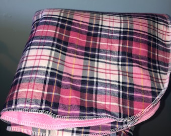 Car seat cosy - pink tartan