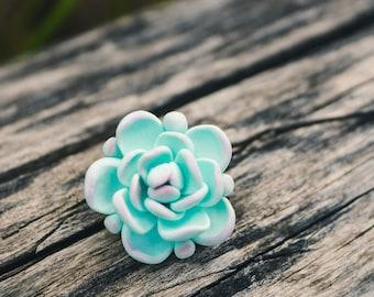 Mint succulent pin. Succulent brooch. Plant pin. Succulent jewelry. Succulent gift. Flower pin. Succulent plant. Wedding succulents