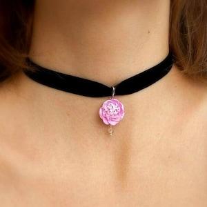 black red Thin Choker Gothic Velvet Ribbon Collar Necklace Set for Women Girl uk