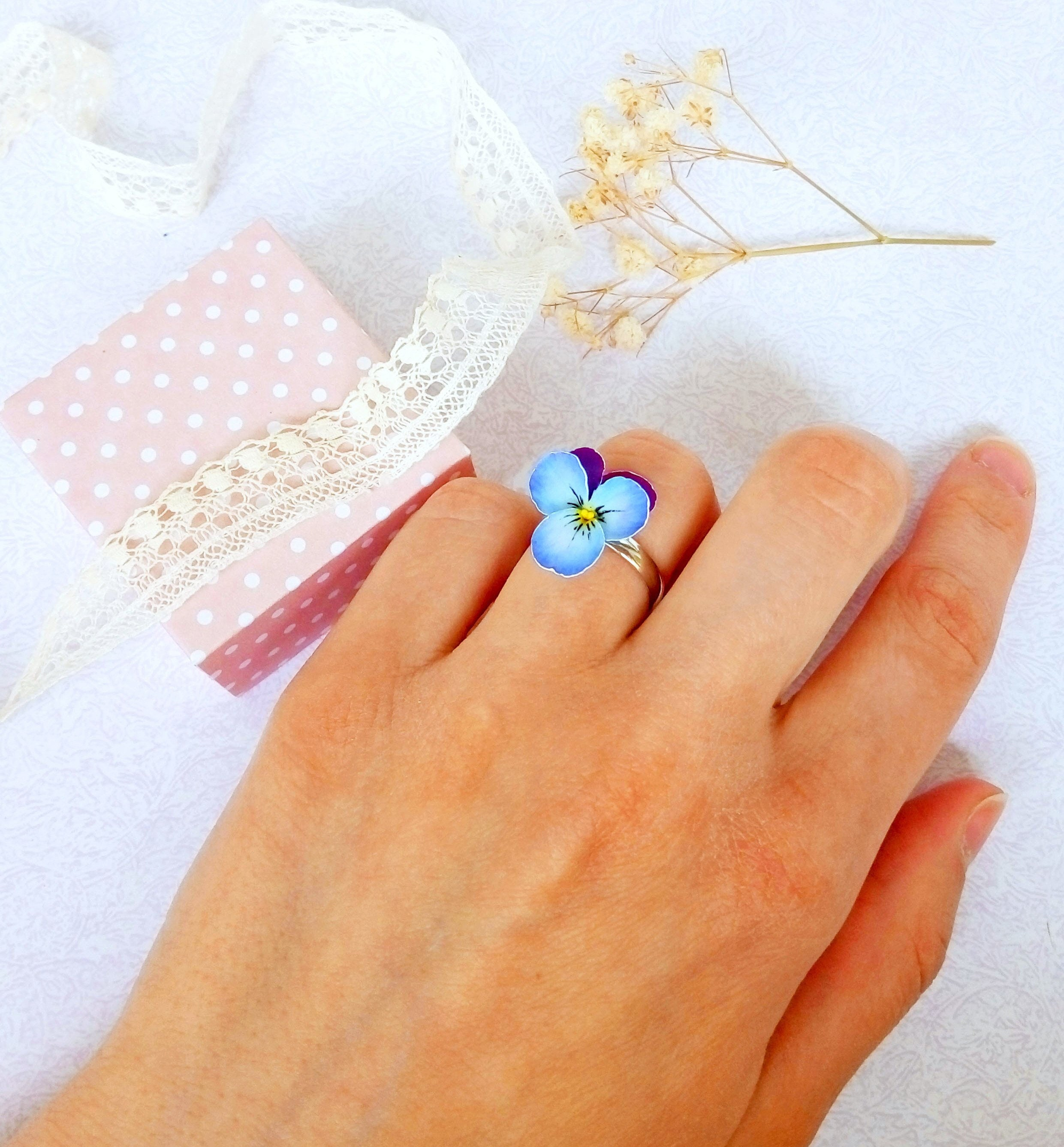 CWI Gifts FB81604 Artificial Mixed Pansy Ring 4 Multicolored