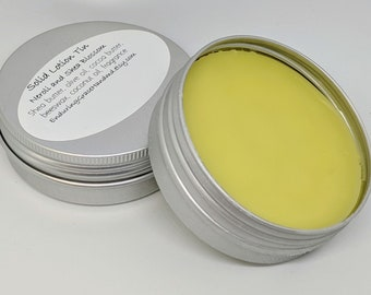 Solid Lotion 2 oz Tin with Shea Butter and Cocoa Butter