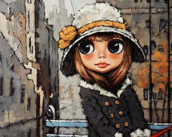"Epic Graffiti ""Appointment 2"" by Alexander Gunin, Giclee Canvas Wall Art"