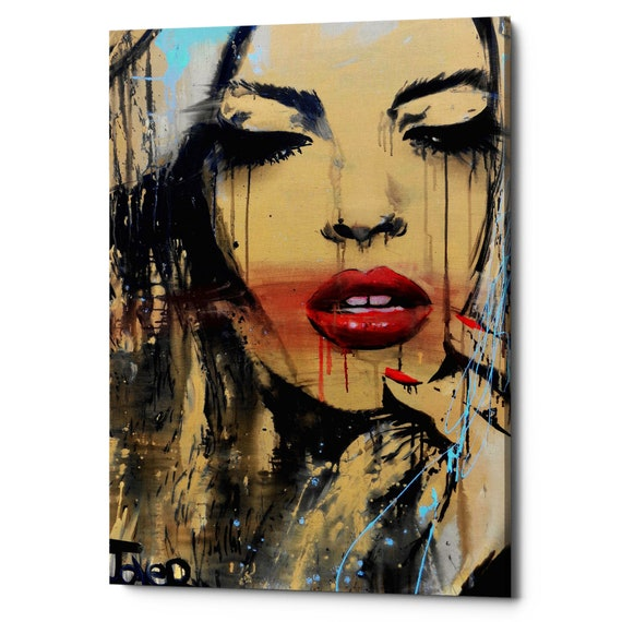 Loui Jover For Us For You Vintage Woman Girl Portrait Print Poster 14x11