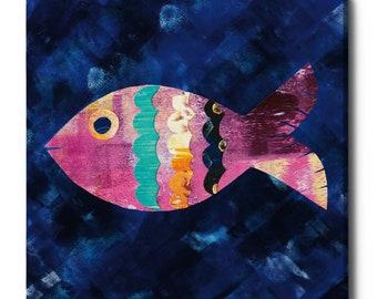 "Epic Graffiti ""Boho Reef III"" by Wild Apple Portfolio, Giclee Canvas Wall Art"