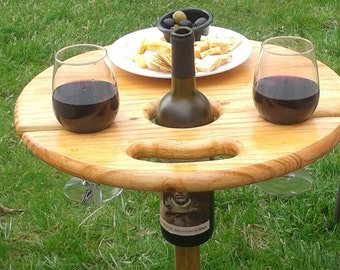 Outdoor Furniture Folding Table Unique Wedding Gift Camping RV Birthday AnniversaryRetirement Personalized For Wine Lovers