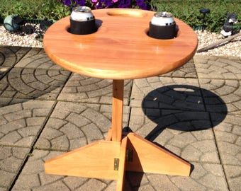 Folding Table and Stand: Beer holder, Tailgating, Cornhole, RV, Gift for Couples, Camping, retirement gift, gift for boyfriend, birthday