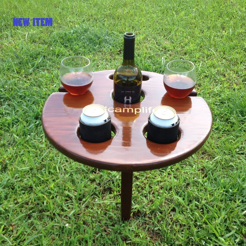 Outdoor beer and wine table personalized gift for mom image 0