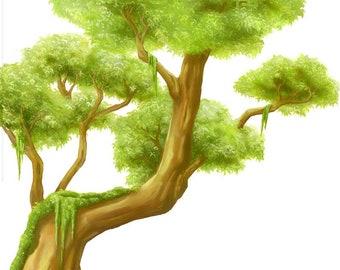 Dschungel wandbild dschungel aufkleber baum aufkleber etsy - Wandtattoo dschungel baum ...