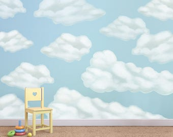Cloud Wall Stickers, Cloud Decals, Clouds Mural, Cloud Wall Decals, Cloud  Decal, Cloud Stickers, Cloud Wall Sticker, Clouds, Cloud Wallpaper