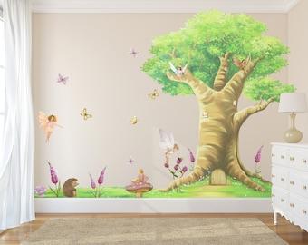 Fairy Decals, Fairies, Fairy Wall Stickers, Fairy Wall Decals, Fairy Decal,  Fairy Art, Woodland Animal Decals, Girls Decals,