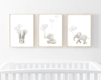 Nursery Prints Elephant Art Wall Artwork Elephants