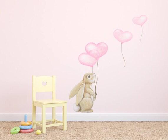 Kaninchen Wand Aufkleber Wandtattoo Hase Kaninchen Wandtattoo Etsy