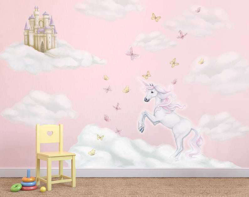 unicorn decals unicorn wall decals unicorn wall stickers   etsy