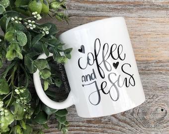 Coffee and Jesus - 11 oz Coffee Mug