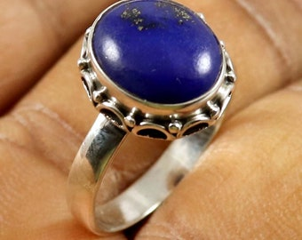 Vintage /& Birthstone Ring Natural Amethyst Trillion Shape Gemstone US-6.5 RC-57 Handmade Solid 925 Sterling Silver Ring Jewelry