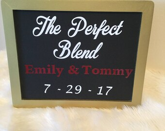 the perfect blend mr and mrs wineitaly themed bridal shower sign custom made