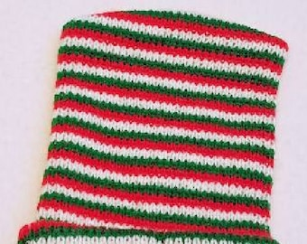 63ef88f5c98 Christmas Preemie 12 Double Ply Baby Hat Green Red White Striped Acrylic  Knit Preemie boy girl Hospital Hat Baby Preemie Hat Hospital Hat
