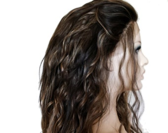 Forever Young Urban Gypsy LACE Front Wig (Color Golden Brown Highlights) Natural Hair | Long Wavy Wig | Heat Safe | Fashion