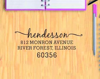 Address Stamp, Self Inking Address Stamp, Custom Address Stamp, Return Address Stamp, Wedding Stamp, Personal Stamp, Custom Stamp ST-T3