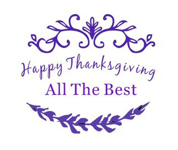 Happy Thanksgiving All The Best Self Inking Stamp -26 Traxx Round Thanks Giving Stamp, Thanks Stamp, Thanks Giving Gift Stamp, Greetings