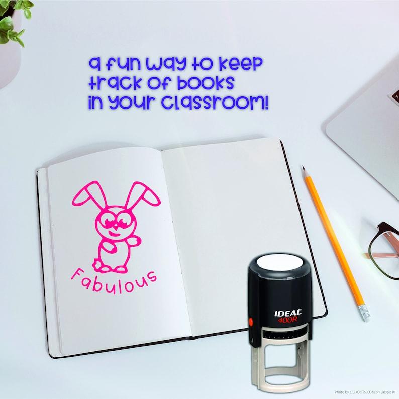 This Book Belongs to Name Round Designer Snoopy Logo Custom Self ink Stamp